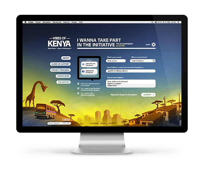 Kenia Kibera und Nairobi farbenfroh
