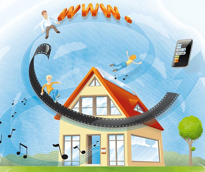 Coverillustration Multimedia und Smart Home
