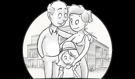 Illustration und Animation für handgezeichneten Erklärfilm im Whiteboard-Look für den Immobilienentwickler TBI