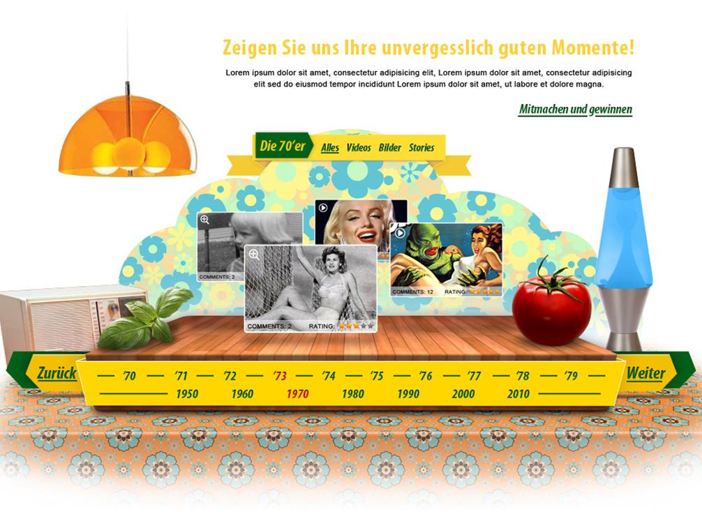 Microsite Screendesign Komposition