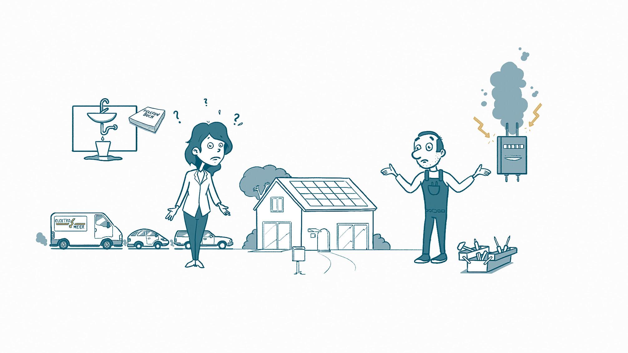 Ein handgezeichneter Erklärfilm im Whiteboard Look für das Startup MeisterListe