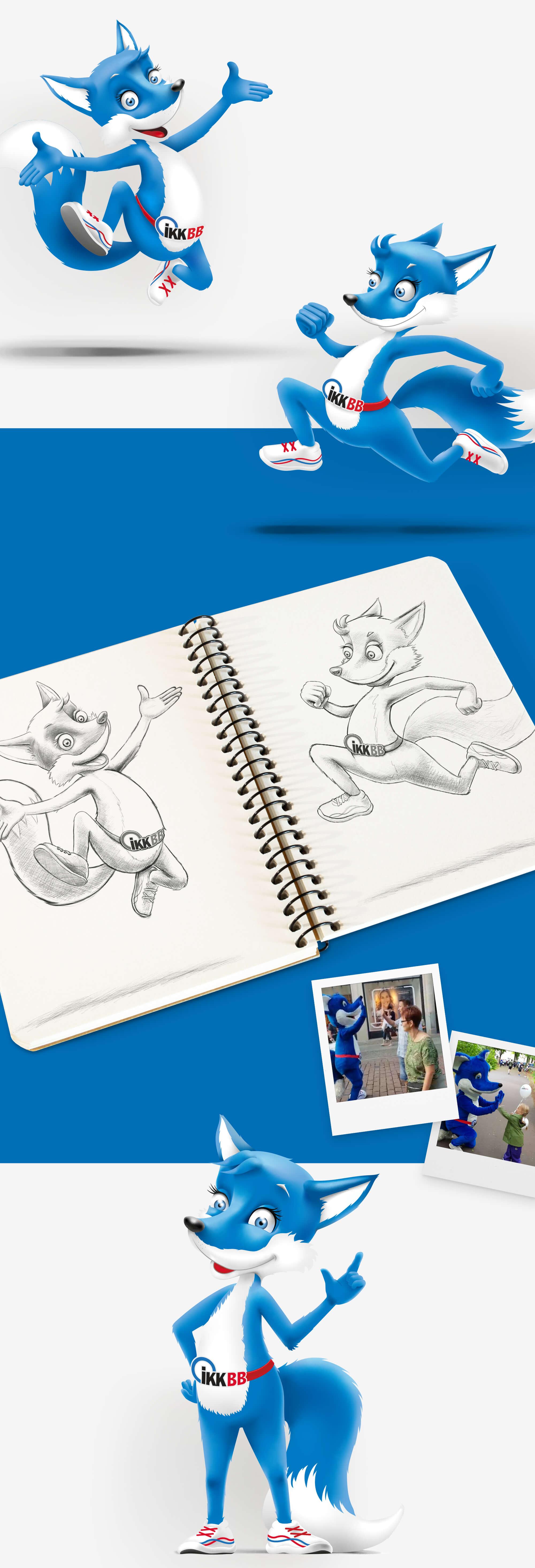 Entwicklung eines Character Designs für das Maskottchen der IKKB: Kikki