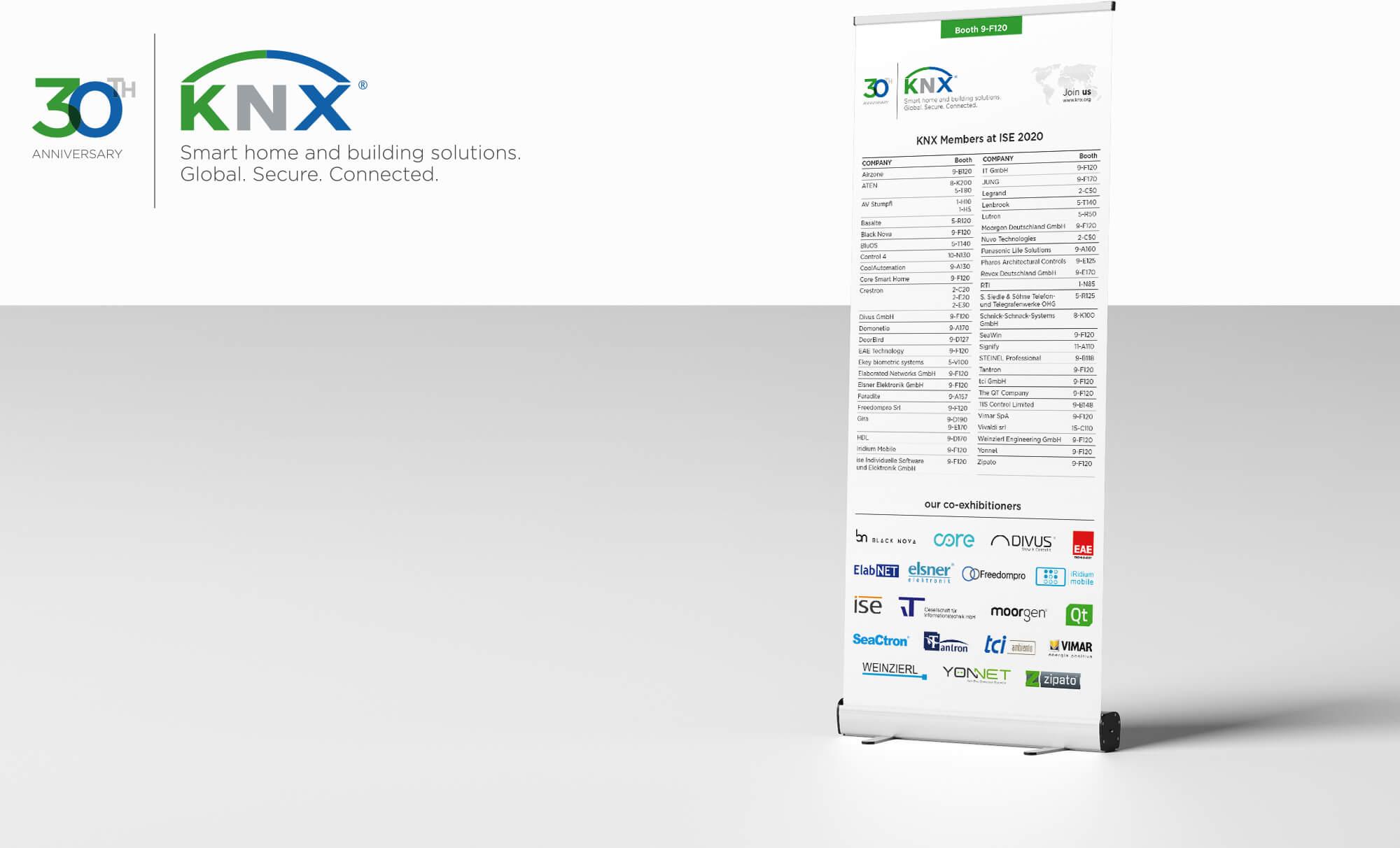 KNX Floor Planner Roll-Up-Aufsteller für die ISE 2020 Layout und Satz Druckvorlage