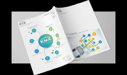 Preview KNX Corporate Design ETS Inside Magazin Satz und Layout und diverse Illustrationen