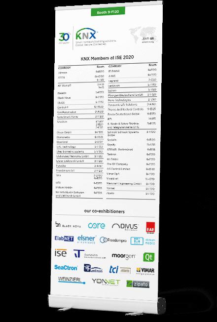 Floor Planner Roll-Up-Aufsteller für die ISE 2020 Layout und Satz Druckvorlage