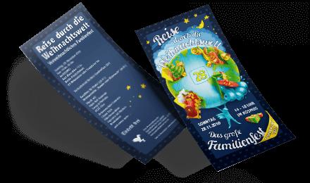 Illustration, Layout und Satz Vorder und Rückseite für einen Flyer DIN Lang Jugendkulturservice Berlin